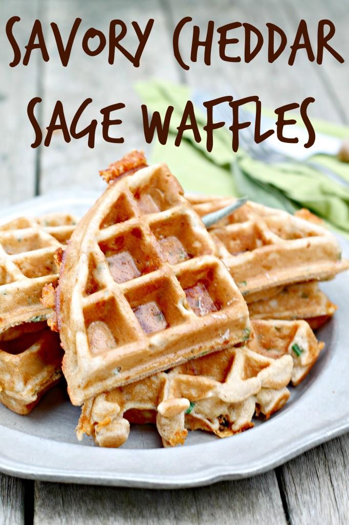 Savory Cheddar Sage Waffles