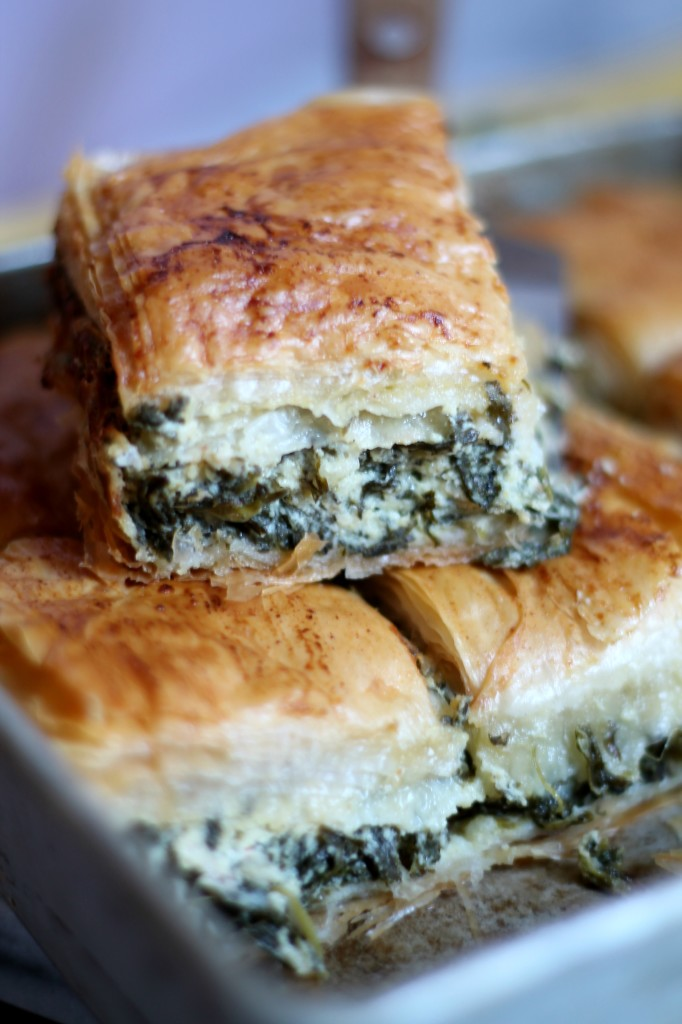 This Hummus Spinach Spanakopita is delicate but with great flavors - make it this holiday season using Sabra Hummus!