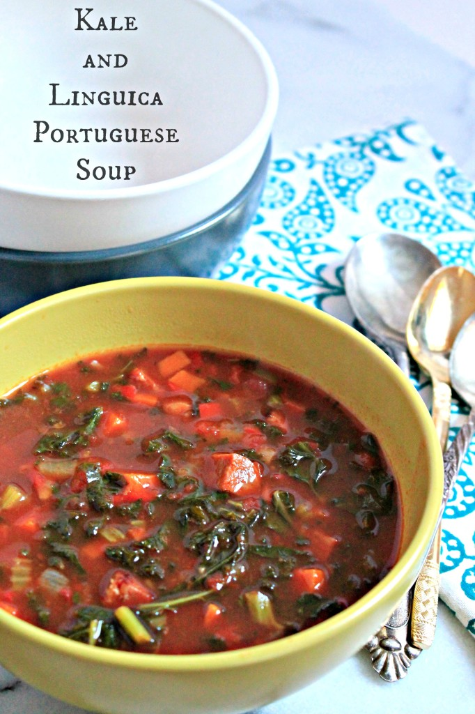 Make a double batch of this Kale and Linguica Sausage Portuguese Soup - it's that good!