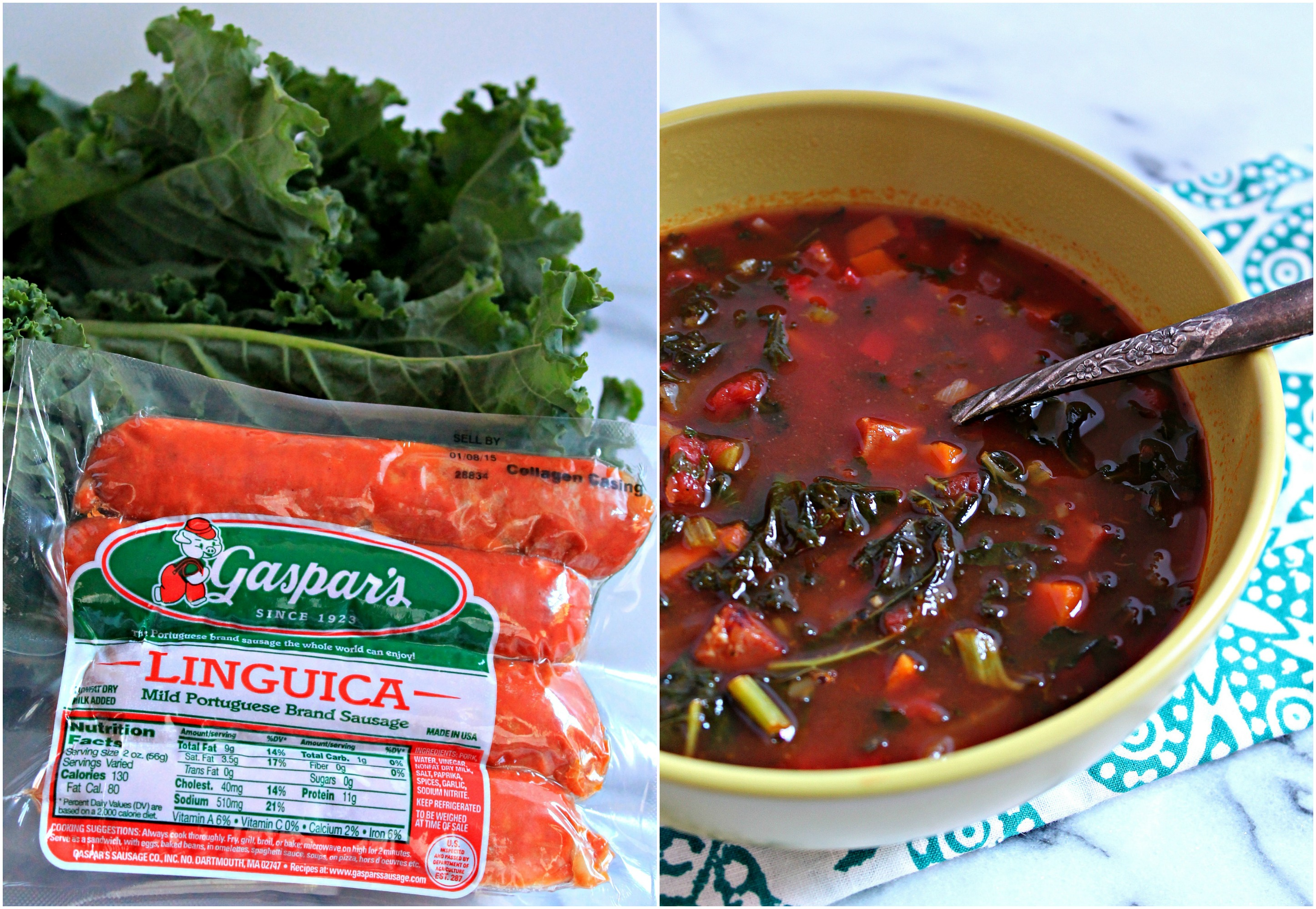 Make a double batch of this Kale and Linguica Portuguese Soup - it's that good!