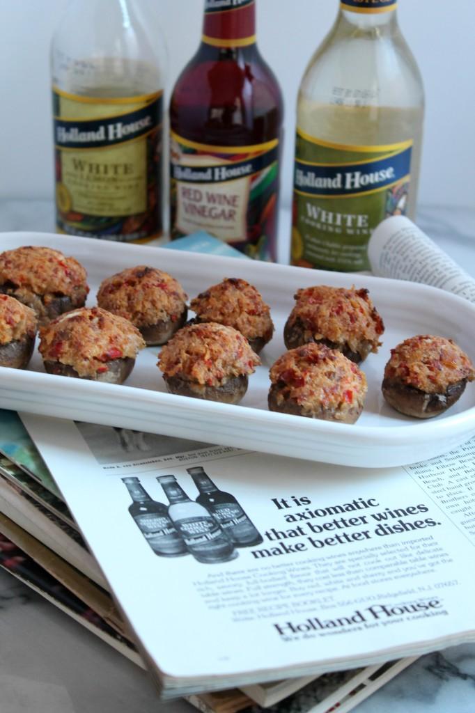 These Chorizo & Wine Stuffed Mushroom make the perfect party appetizer!