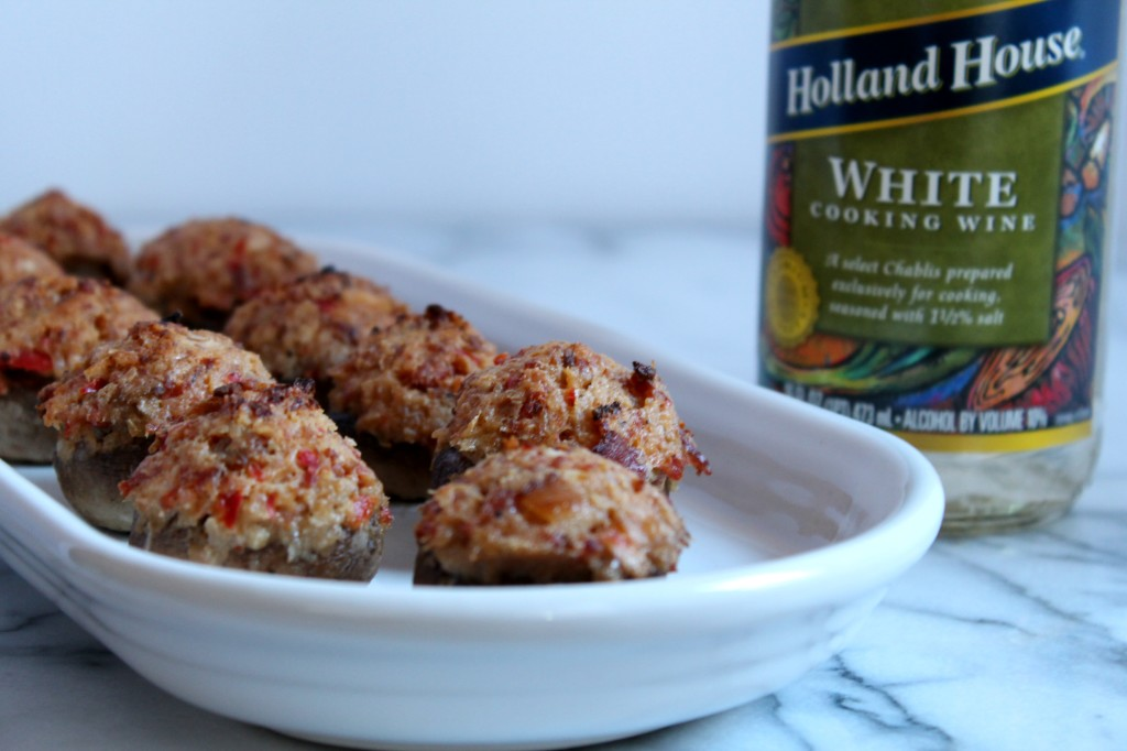 These Chorizo & Wine Stuffed Mushroom make the perfect party appetizer!