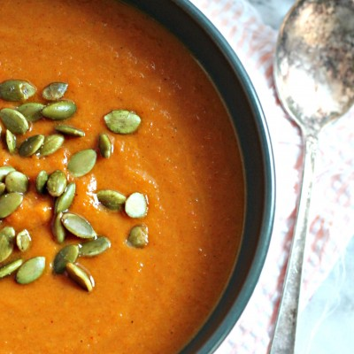 Carrot & Pumpkin Curry Soup