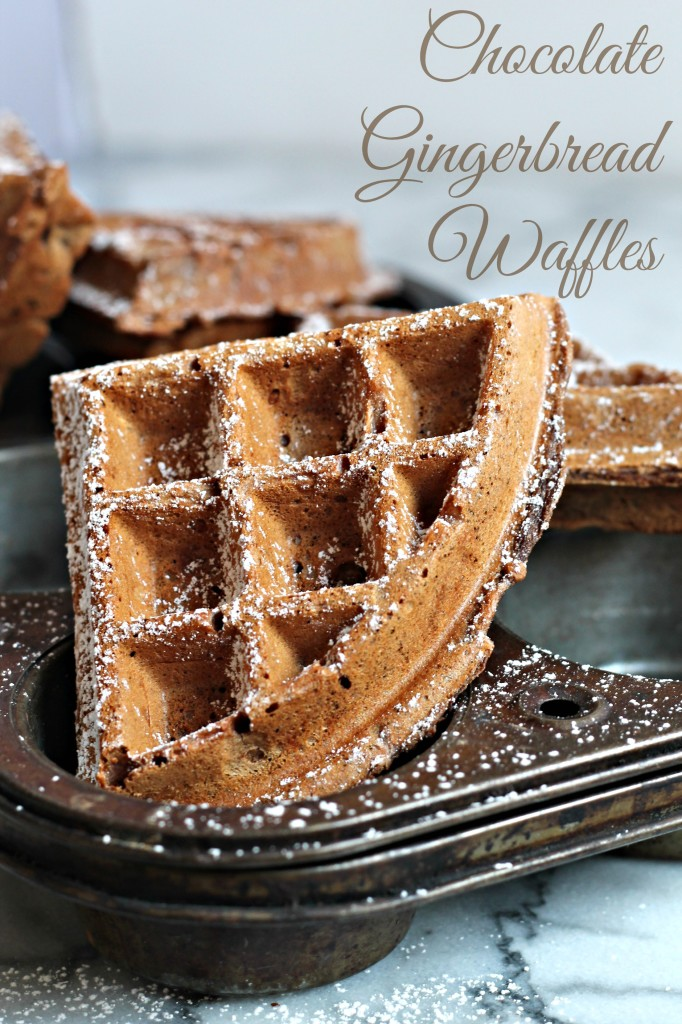 Wake up the family to these Chocolate Gingerbread Waffles on Christmas morning!