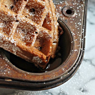 Chocolate Gingerbread Waffles