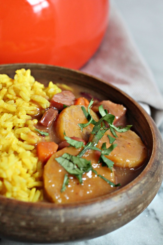 """This Red Bean & Root Vegetable Stew is inspired by the Dominican """"sancocho de habichuelas"""" and is the perfect winter comfort food!"""