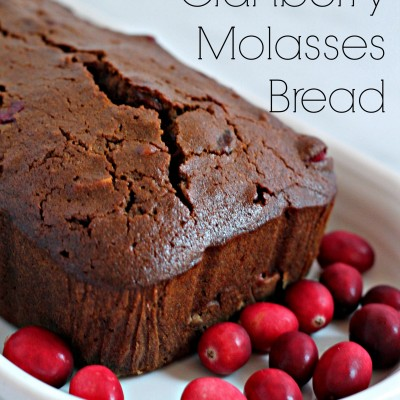 Spiced Cranberry Molasses Quick Bread