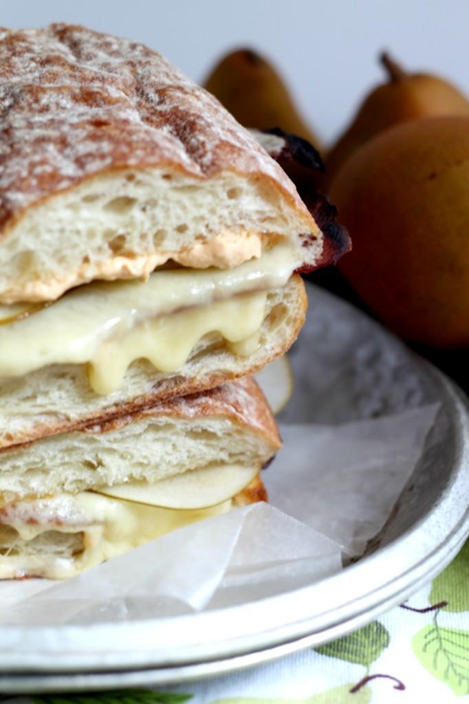 Triple Crème Cheese, Pear& Pumpkin Grilled Cheese Sandwich