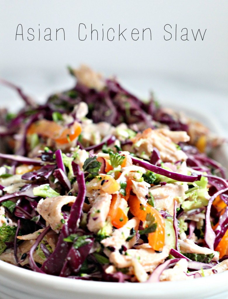 Make this Asian Chicken Slaw, a refreshing alternative to those heavy winter meals we're eating this season!