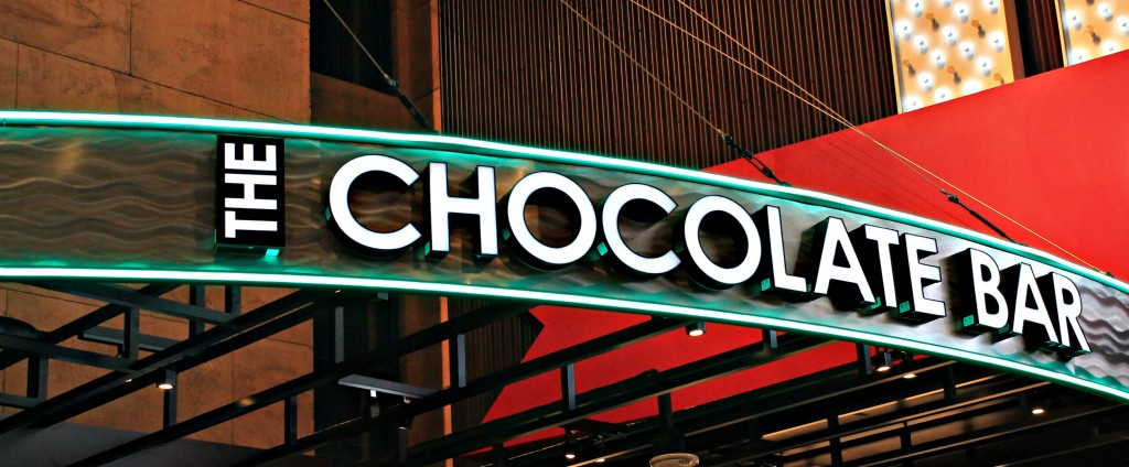 The Hershey's Chocolate Bar is the place to be in Vegas if you're a chocolate lover and over 21!