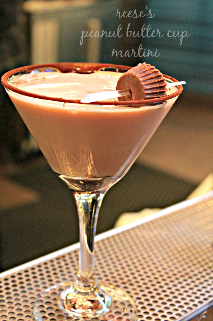 Peanut Butter Cup Martini from The Hershey's Chocolate Bar is the place to be in Vegas if you're a chocolate lover and over 21! Get the recipe from Cooking with Books