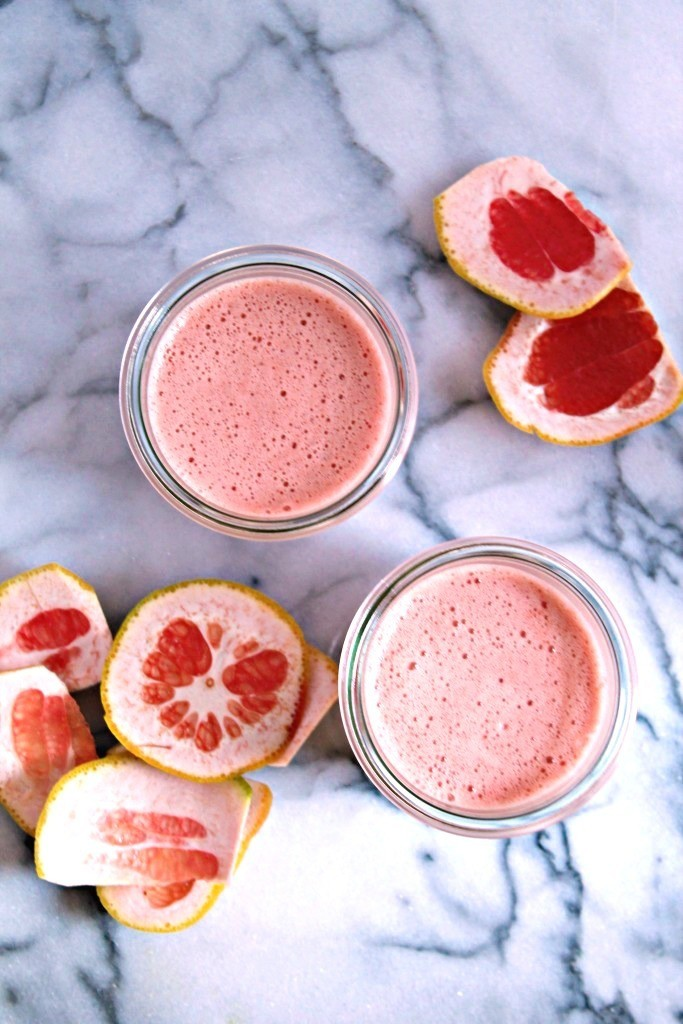Grapefruit Apple Juice Recipe, from CookingwithBooks.net - a refreshing + delicious juice packed with Vitamin C!