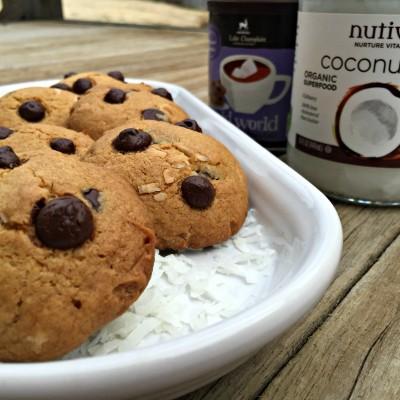 Double Coconut Chocolate Cookies