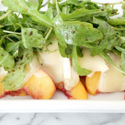 Summer Peach Salad with Brie Cheese