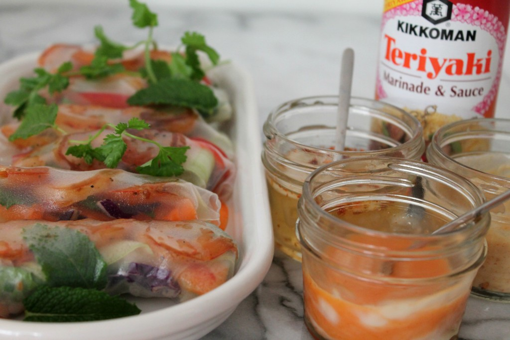Teriyaki Shrimp Spring Rolls Recipe