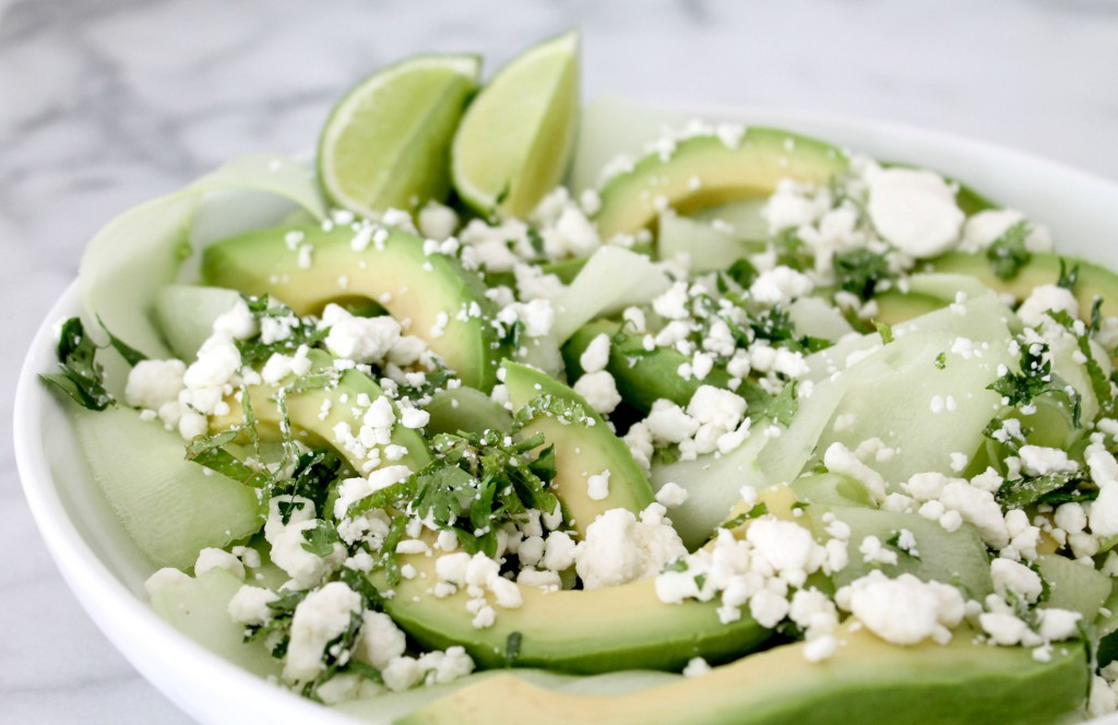 its finest: perfectly ripe avocados laced with thinly shaved cucumbers ...