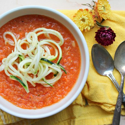Gazpacho with Zucchini Noodles