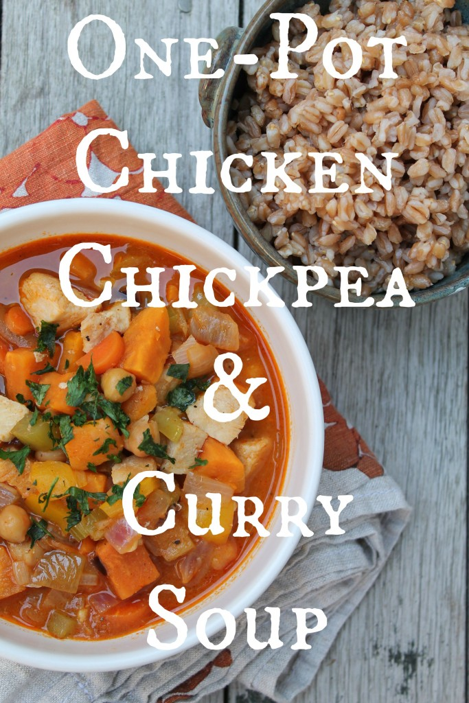 Perfect seasonal recipe: One Pot Chicken, Chickpea, and Curry Soup