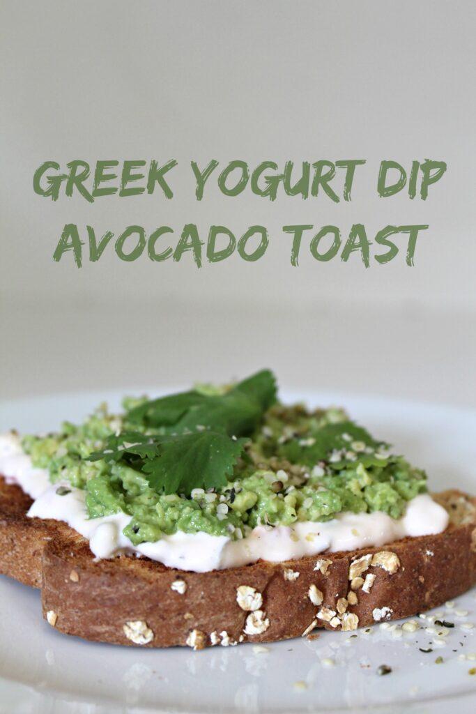 Greek Yogurt Dip Avocado Toast
