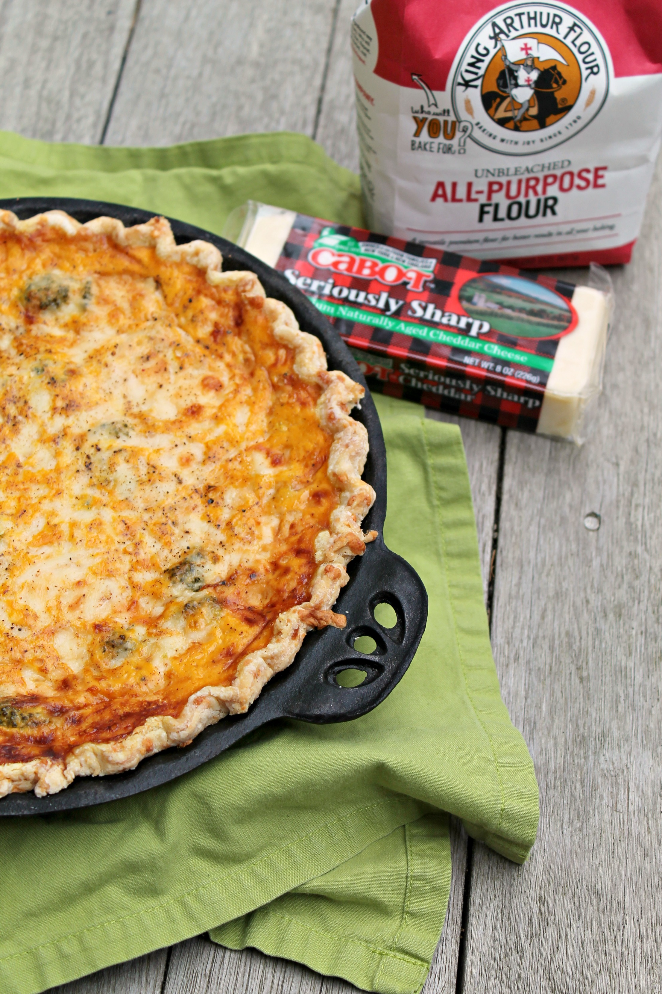 Bake up this seasonally delicious quiche made with a pumpkin base and lots of cheese, plus healthy vegetables!