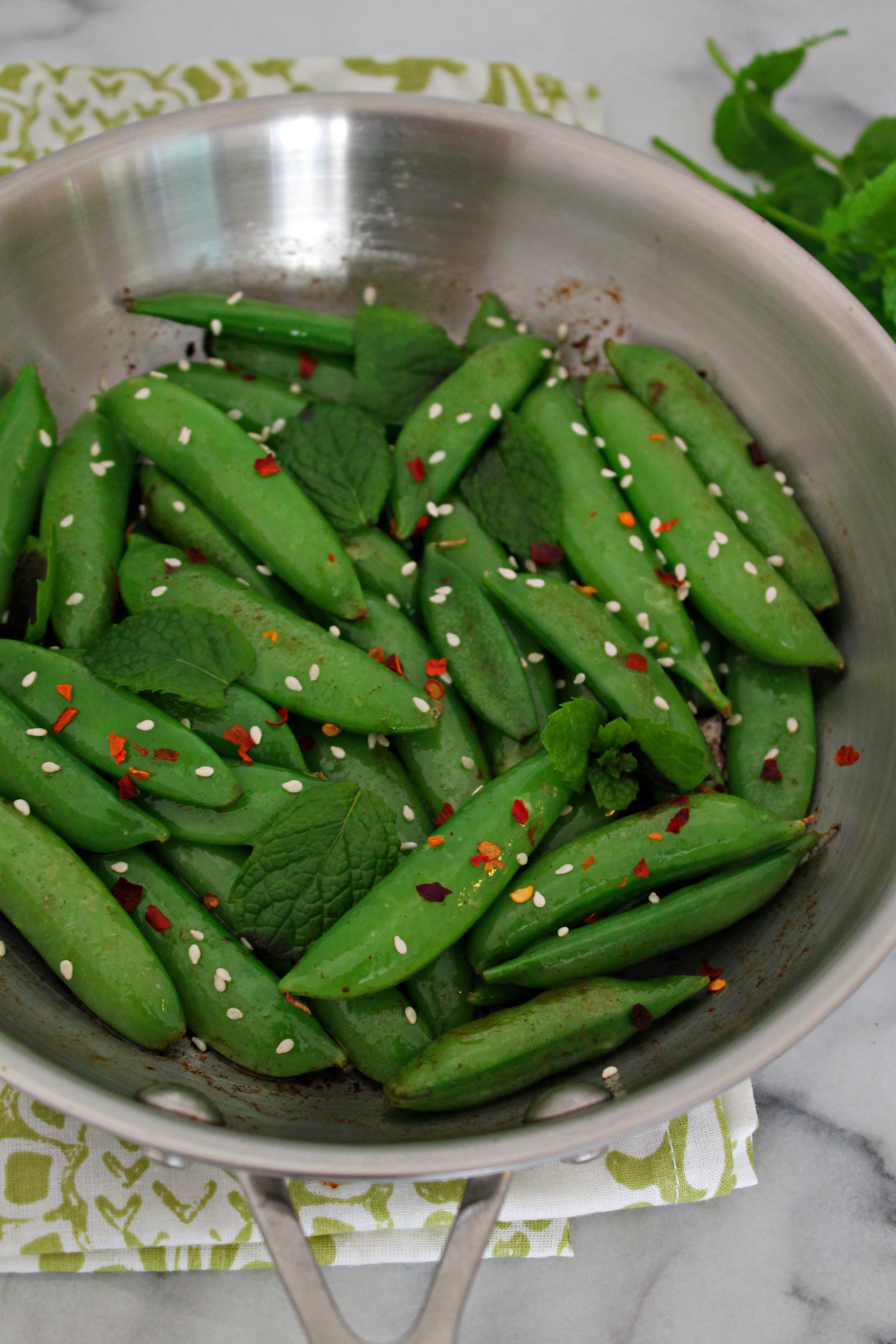 Sesame Sugar Snaps Recipe — Dishmaps