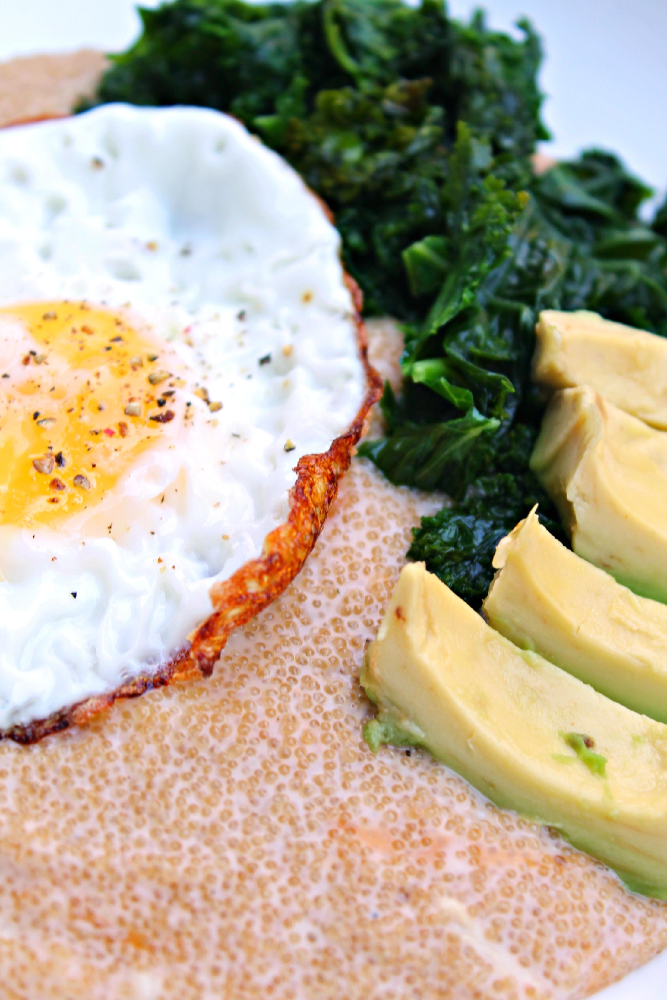 Cheesy Amaranth Breakfast Bowl
