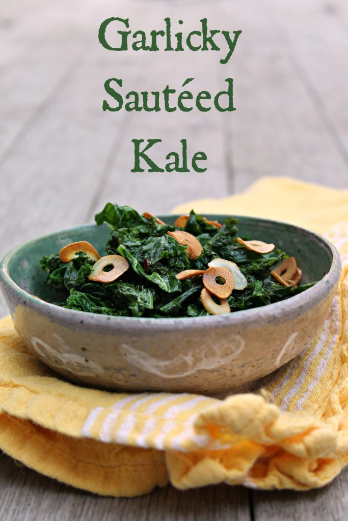 Garlicky Sautéed Kale - Recipe from CookingWithBooks.net