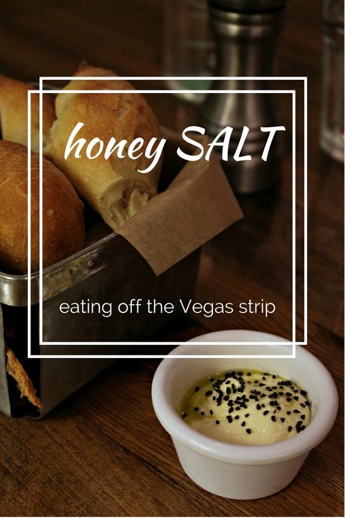 """Logo for the Las Vegas restaurant, """"honey SALT"""""""