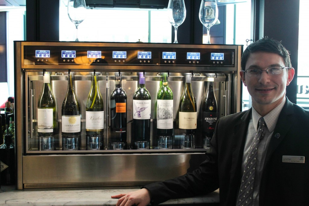 "Sheraton-Wine-Bar - ""Wineemotion"" wine dispensing system."