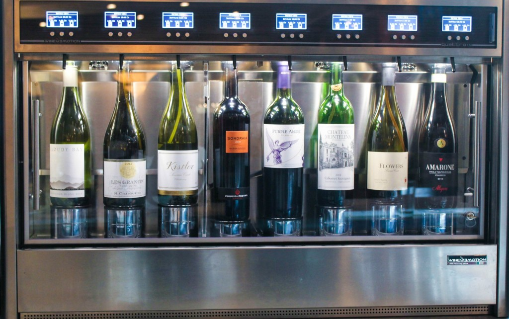 "Sheraton Boston Wine Bar's ""Wineemotion"" allows fine wines to be dispensed by the glass at optimal temperatures."