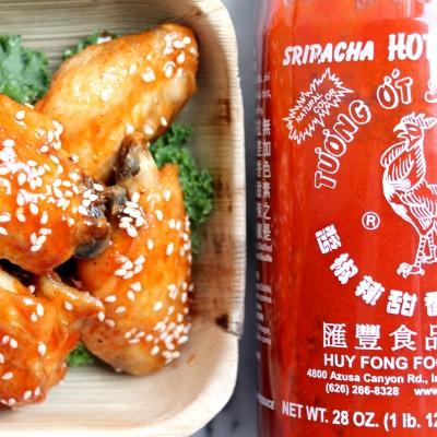 Spicy Sweet Sriracha Sesame Wings