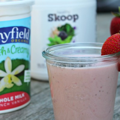 Roasted Strawberry Chia Seed Smoothie