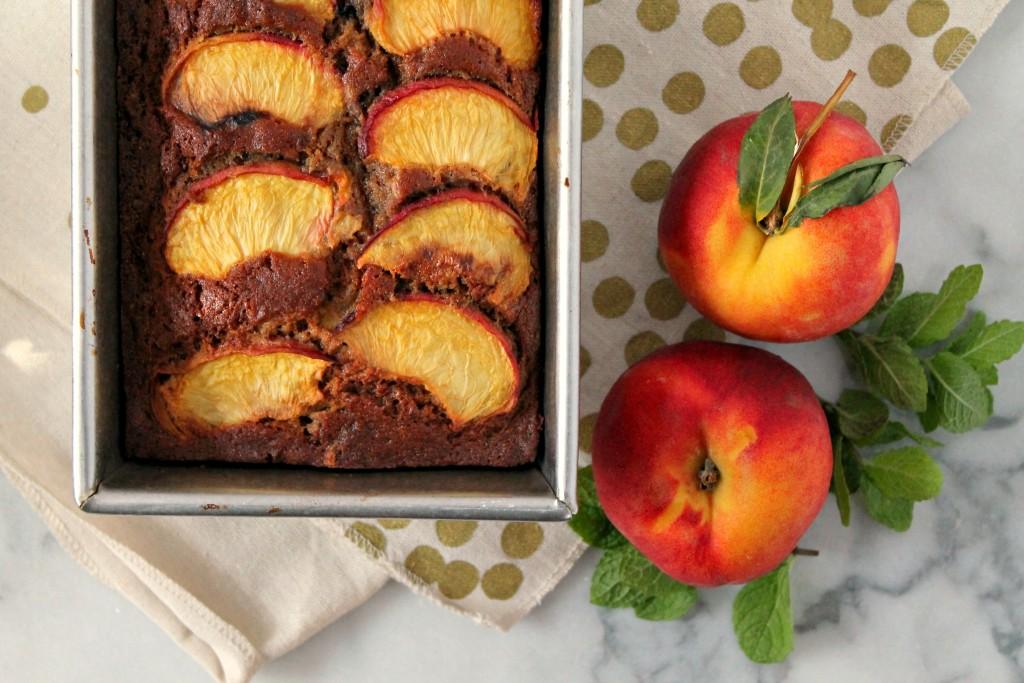 Summer Peach Banana Bread