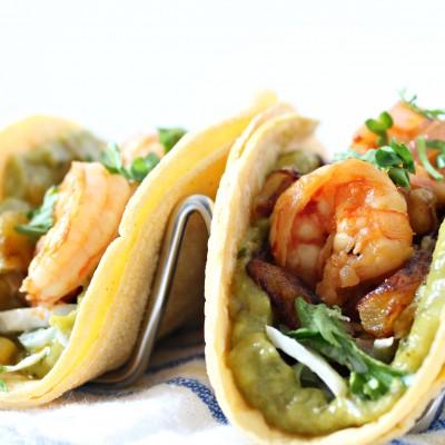 Sweet Plantain n Shrimp Tacos