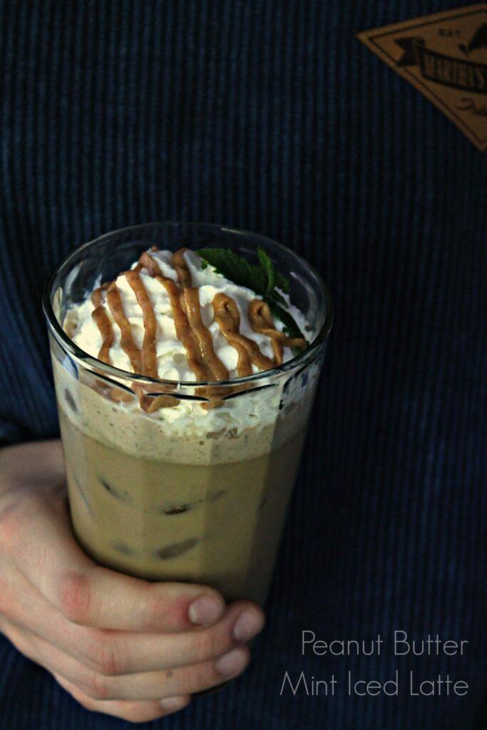 Peanut Butter Mint Iced Latte