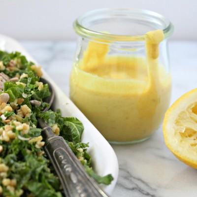 Tahini Turmeric Salad Dressing