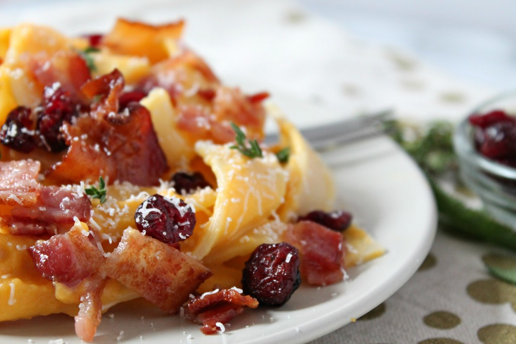 Creamy Butternut Squash & Bacon Pasta recipe