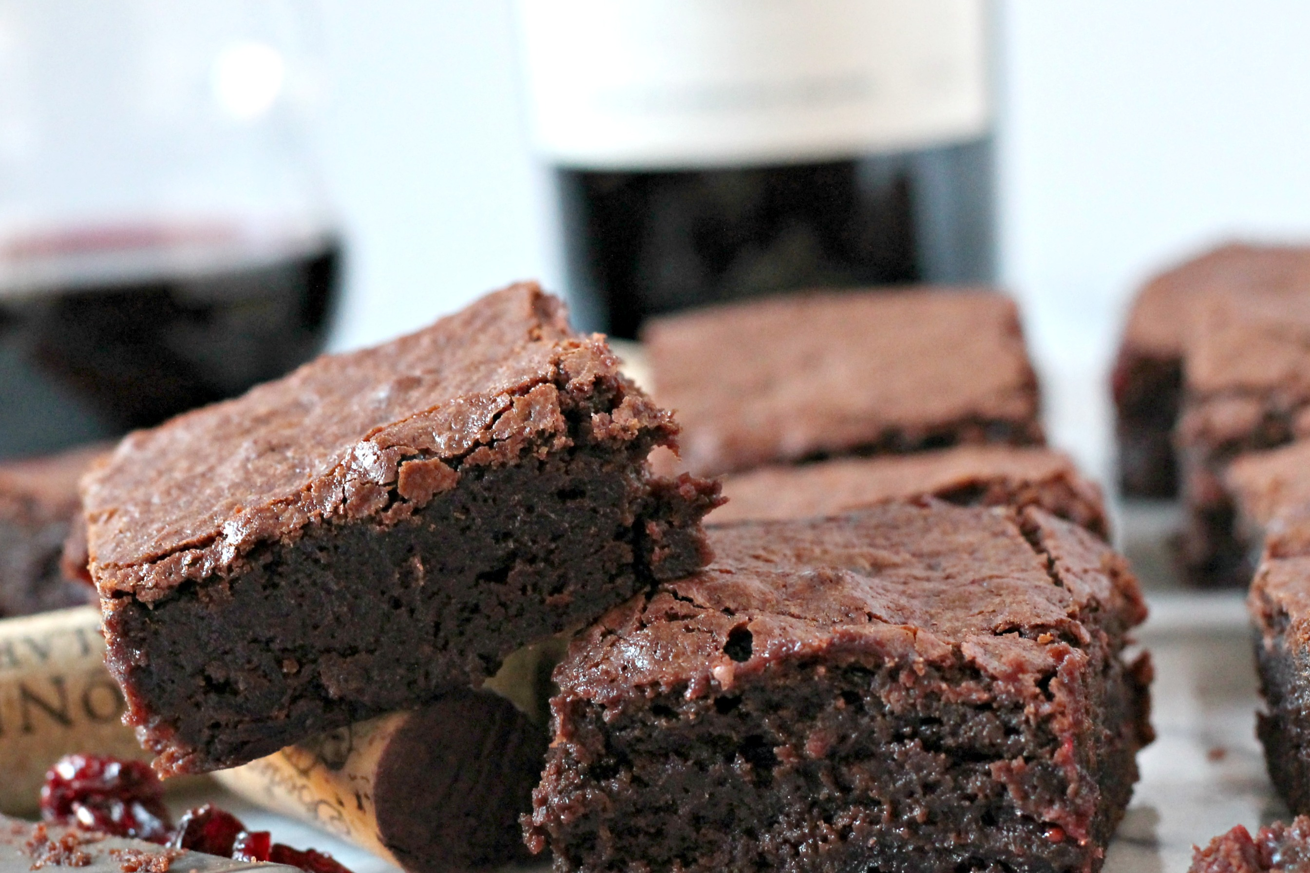 Red Wine Brownies - Cooking with Books