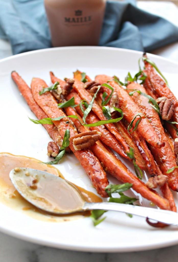 Maple Mustard Roast Carrots
