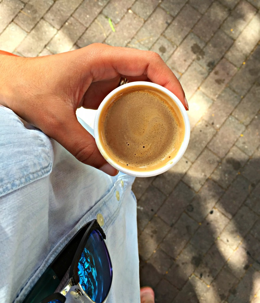 Cortadito, also know as a Cuban coffee, can be found all over the city.