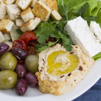 Mediterranean Tofu Lettuce Wraps