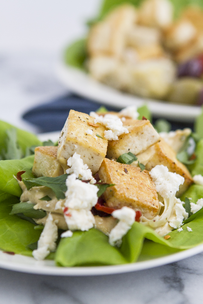 This Hummus Lettuce Tofu Wrap is the perfect summer lunch!