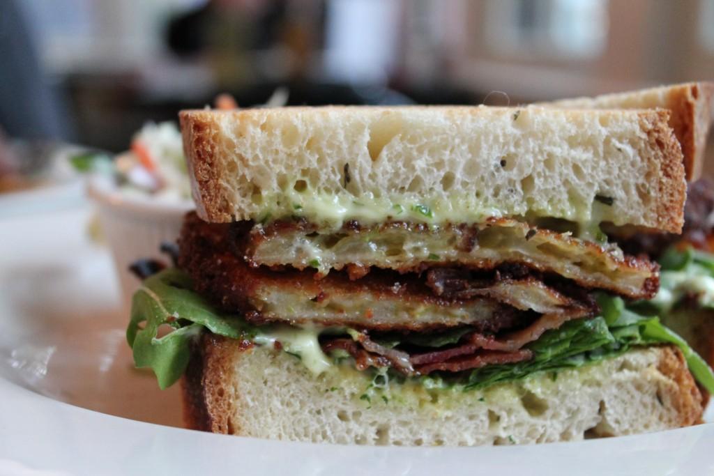 Fried Green Tomato Sandwich, Slice of Life in Oak Bluffs