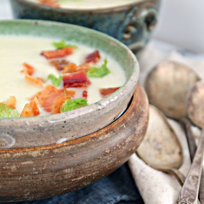 Cauliflower & Fennel Soup with Bacon