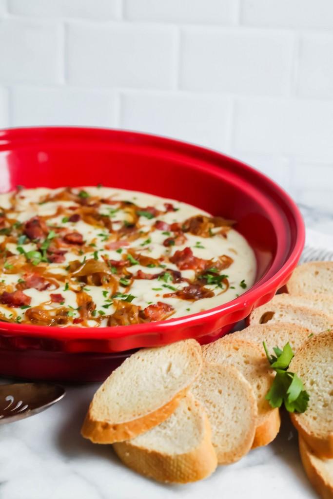Bacon Brie Onion Dip recipe