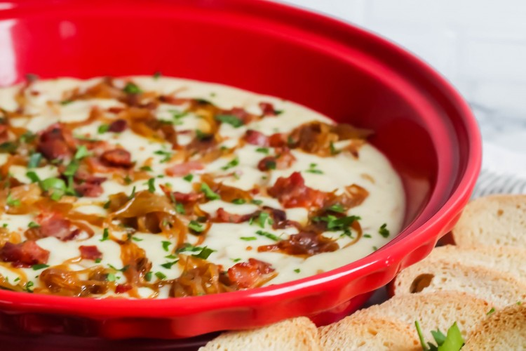 Brie, Caramelized Onion, and Bacon Dip