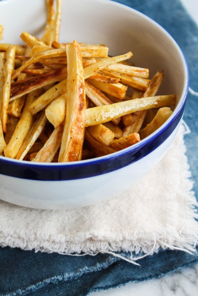 Roasted Turmeric Honey Parsnips