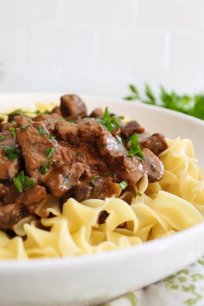 Simple Beef Stroganoff recipe