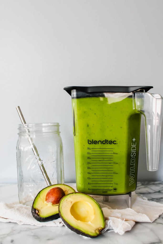 Ultra-Creamy Avocado Kale Smoothie