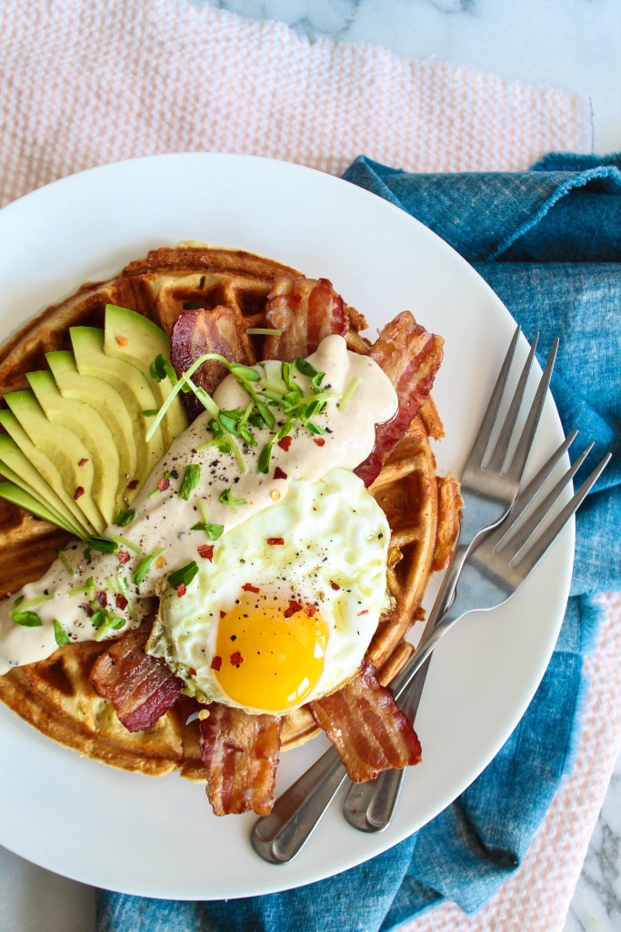 Savory Breakfast Waffles recipe